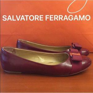 ⭐️ SALVATORE FERRAGAMO BOW FLATS 💯AUTHENTIC